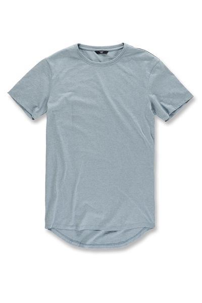 5995719231c Jordan Craig – MELANGE SCALLOP T-SHIRT – Ice Blue – Fine Threads